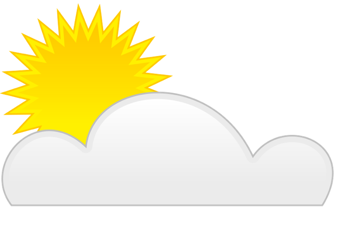 700x459 Simple Partly Cloudy Clipart