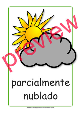 320x453 Spanish Printable Color Weather Flashcards And Weather Flash Cards.