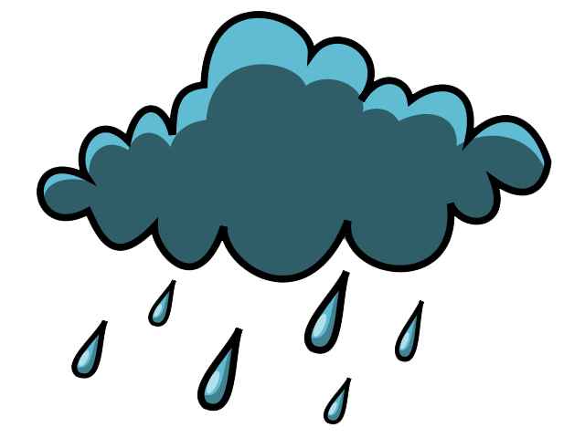 640x480 Weather Clipart Image Cloudy With Rain