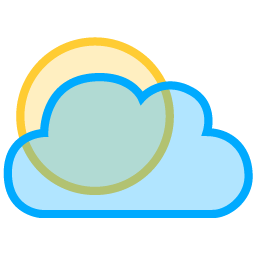 256x256 Sunny To Partly Cloudy Icon Free Icons Download