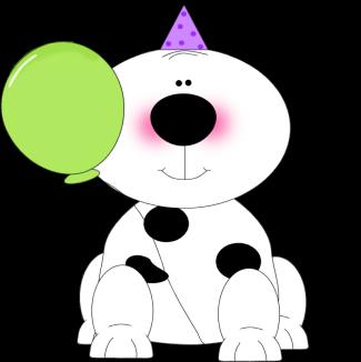 325x326 Party Puppy Clip Art