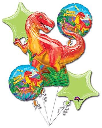 356x450 Dinosaur Party Balloon 5 Piece Bouquet Toys Amp Games