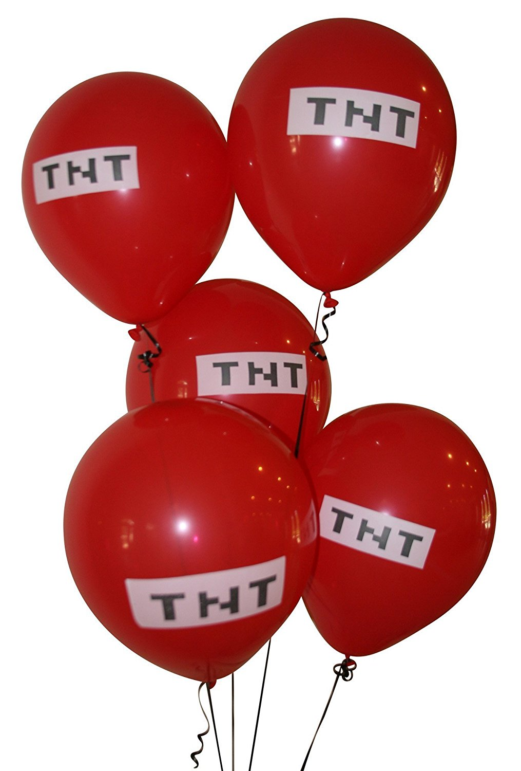 1015x1500 Pixelated Red Tnt Balloon 12 Inch Latex Party