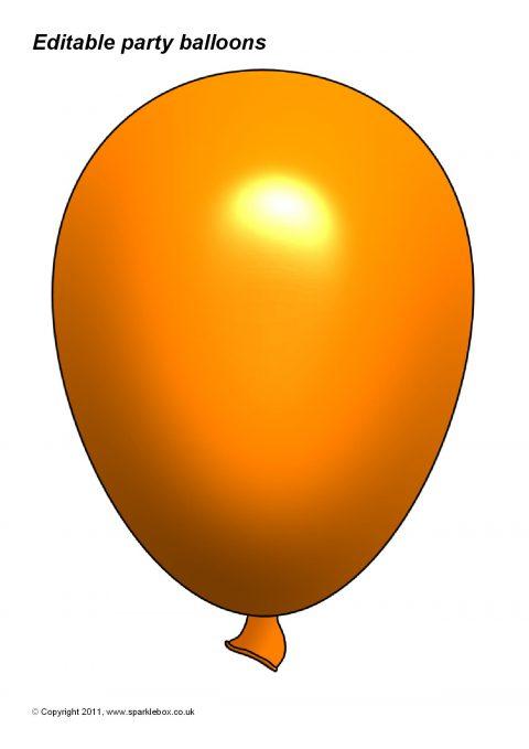 480x679 Editable Party Balloon Templates (Sb3996)