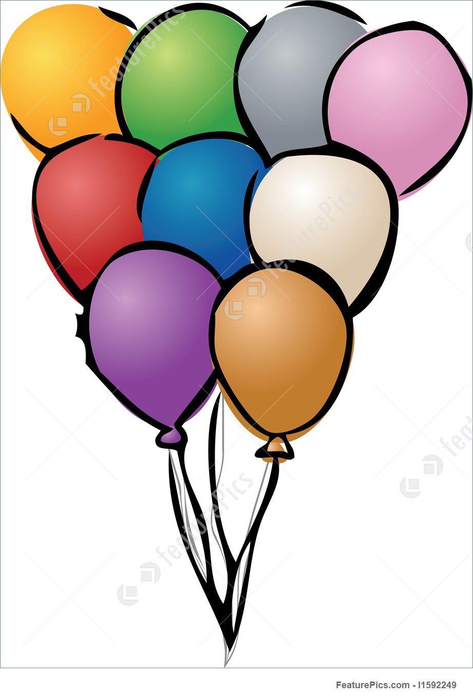 921x1360 Festive Party Balloon Stock Illustration I1592249