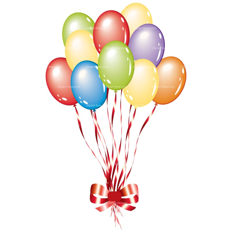 800x800 Party Balloons Clipart