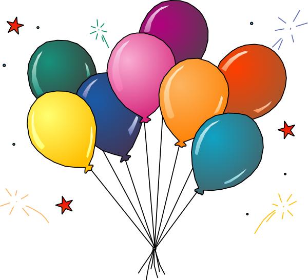 600x546 Party Balloons Clipart Clipart Panda