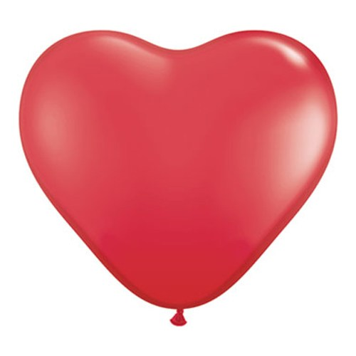500x500 Valentines Day Latex Party Balloon Red Hearts 36 Inch