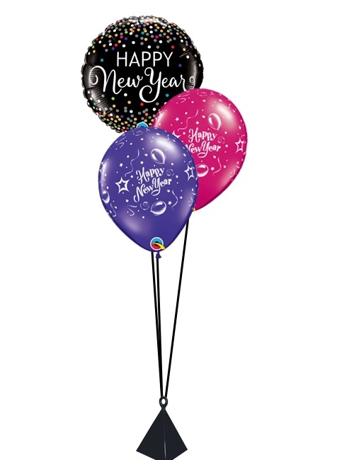 500x650 Colour Confetti Table Bouquet New Year Balloons Party Fever