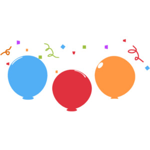 300x300 Confetti And Balloons Clipart Clipart