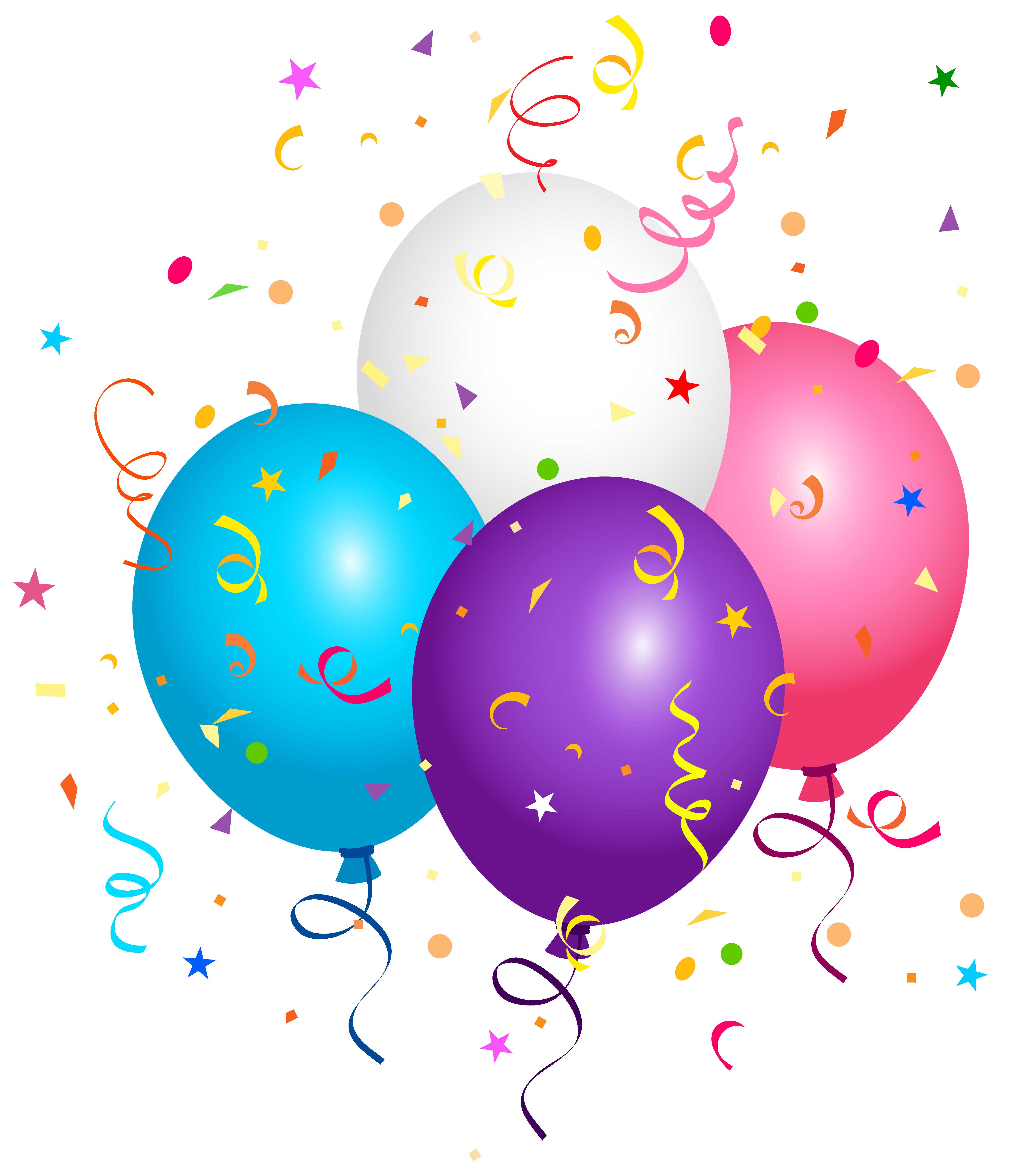 5453x6296 Confetti Clipart Balloon Confetti