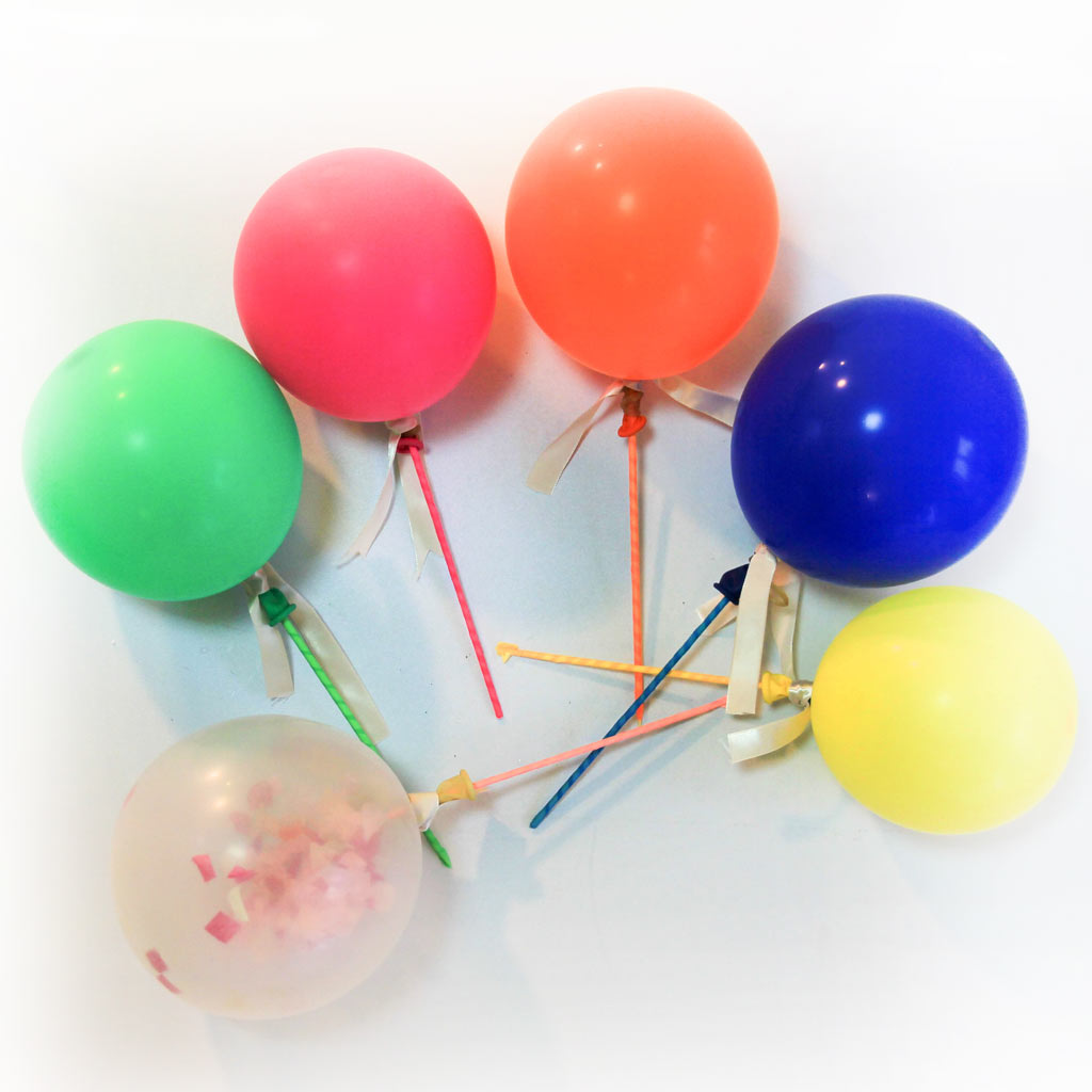 1024x1024 Mini Party Confetti Balloons Cake Toppers O H L A L A ! D A Y
