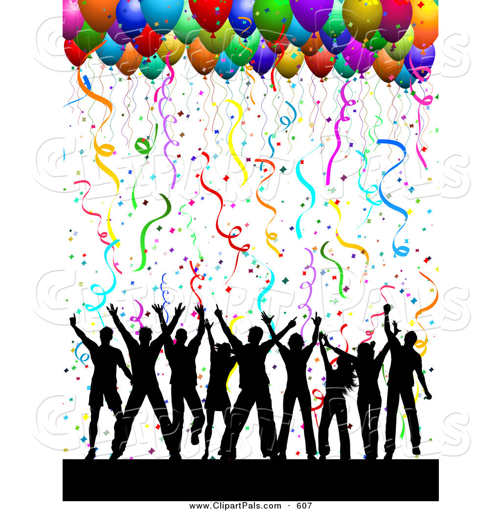1024x1044 Party Balloons And Confetti Clipart Panda