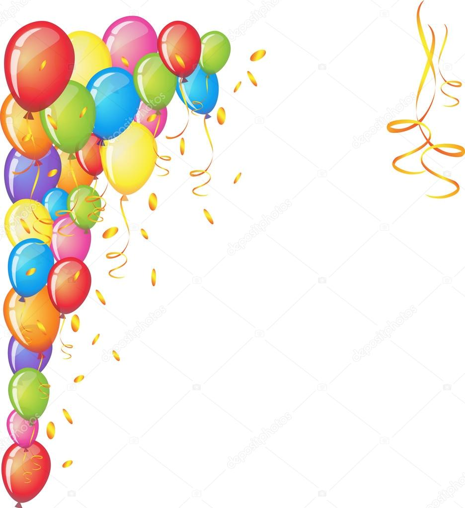 936x1024 3d Realistic Colorful Bunch Of Happy Birthday Balloons Vector