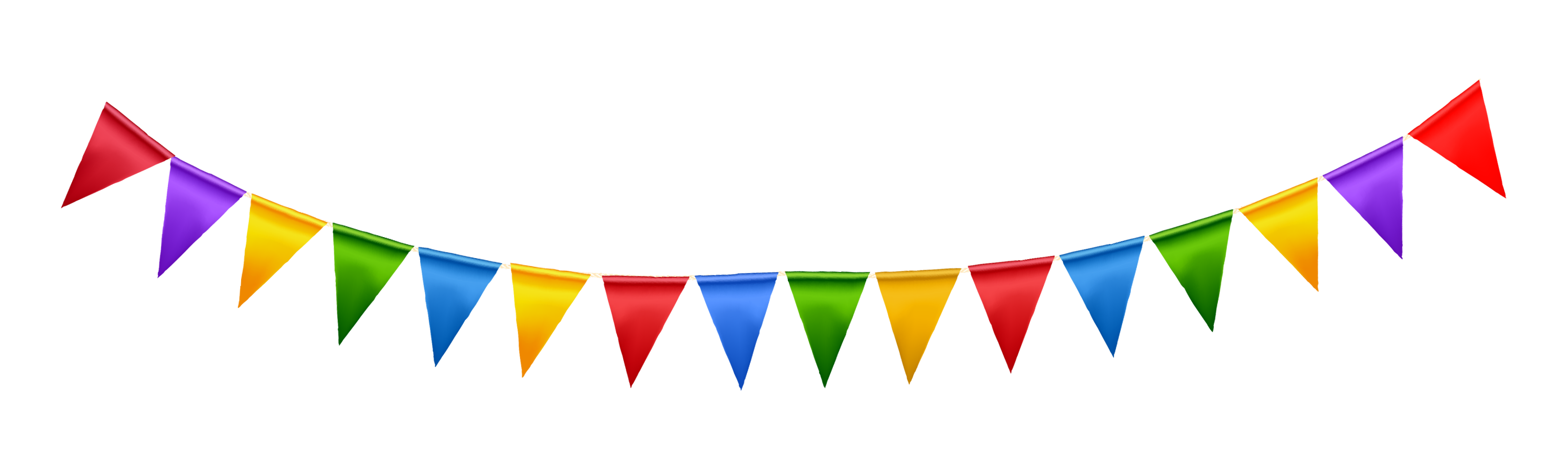 3063x908 Party Streamers Clipart