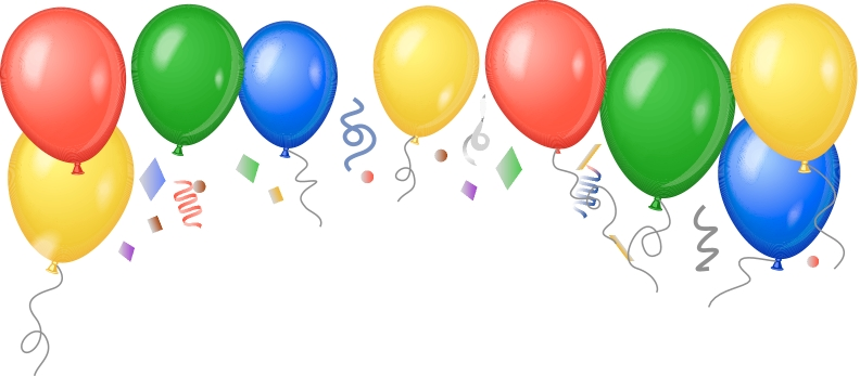 792x347 Welcome Balloons Clipart