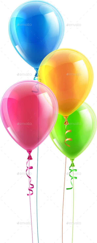 590x1471 Birthday Party Balloon Set By Krisdog Graphicriver