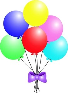 218x300 Cliparts Party Balloons 193807