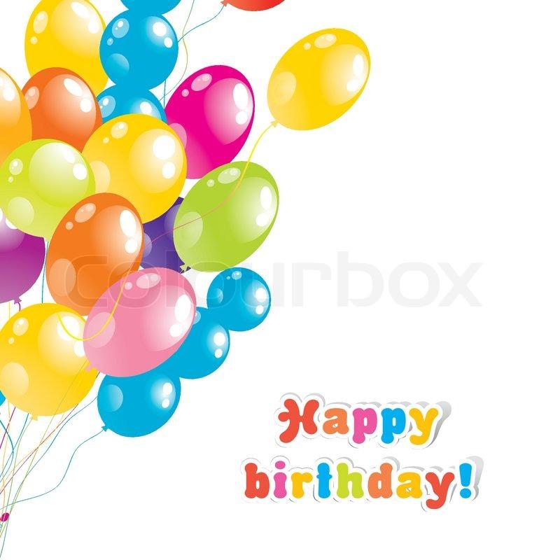 800x800 Color Beautiful Party Balloons, Vector Stock Vector Colourbox