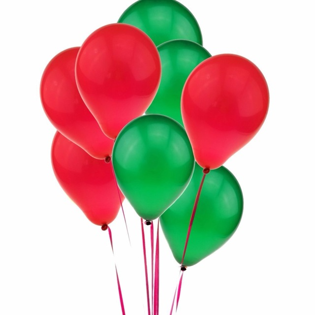 640x640 20pcs Red And Green Balloons Latex Balloons Christmas Party