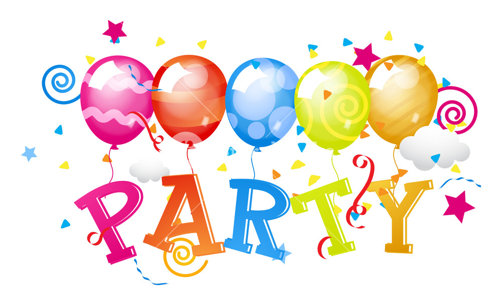 1000x607 Party Balloons Background Royalty Free Stock Image