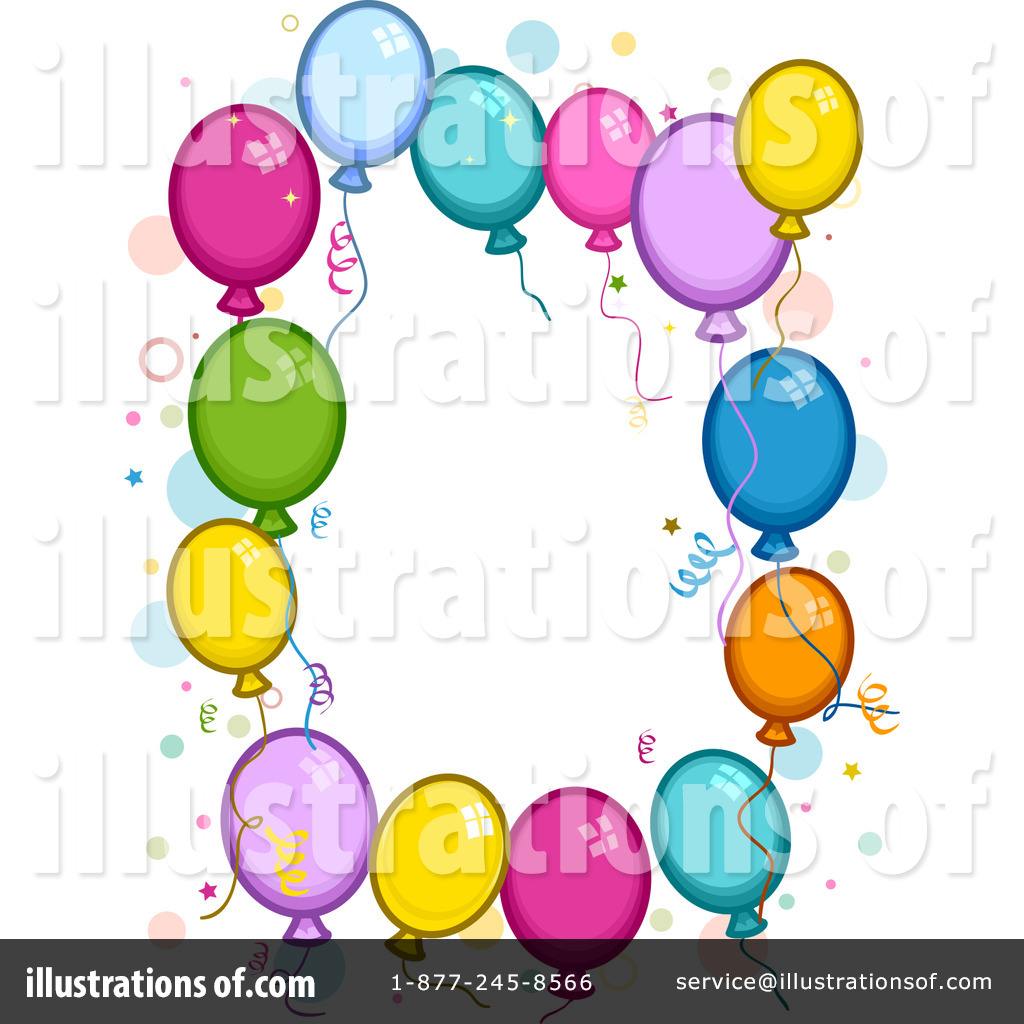 1024x1024 Party Balloons Clipart