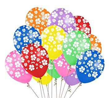 355x316 48pcs Hawaiian Luau Tropical Party Balloons Birthday