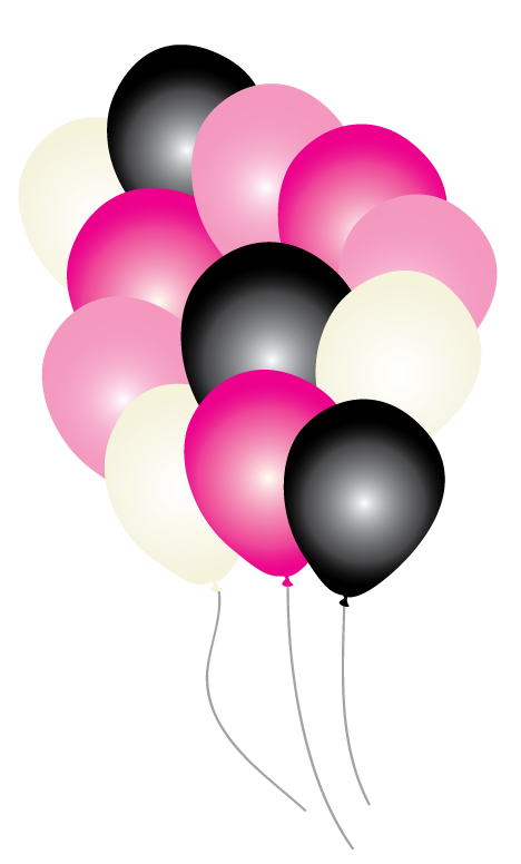 468x776 Pink Paris Party Balloons Pk16 Just Party Supplies Nz