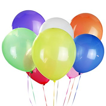 355x355 Latex Balloons Bulk (160 Piece) 8 Color Party Balloons