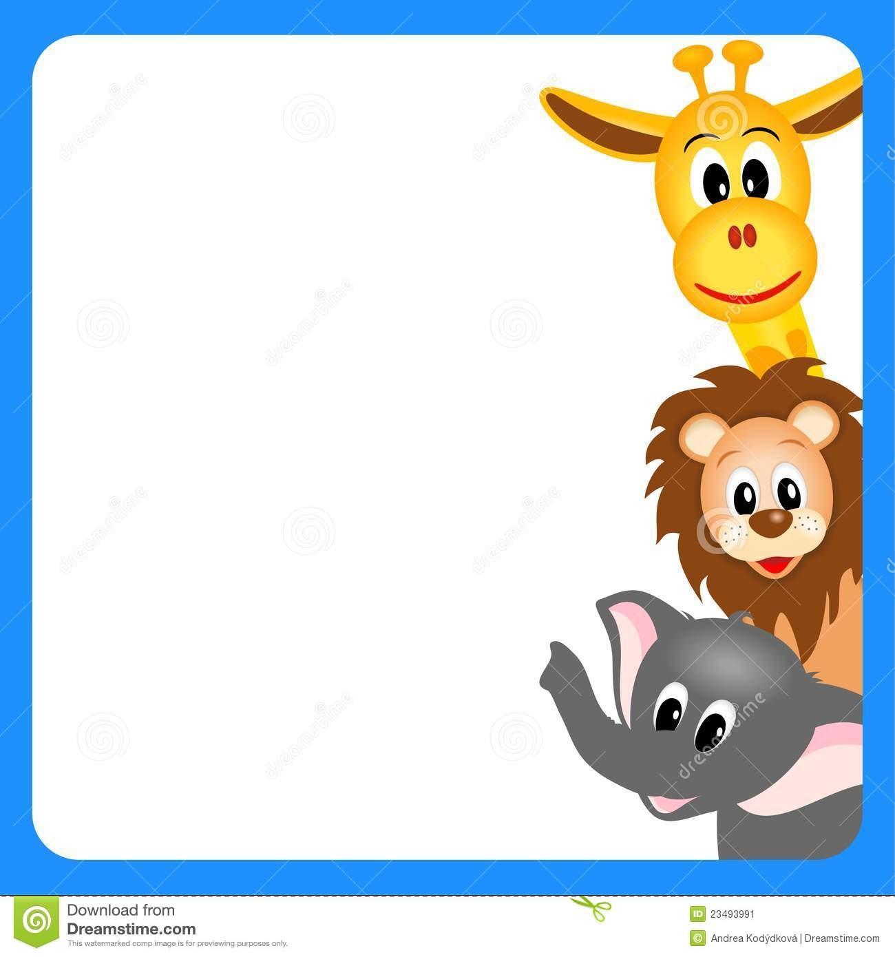 1300x1390 Baby Animal Clipart Border