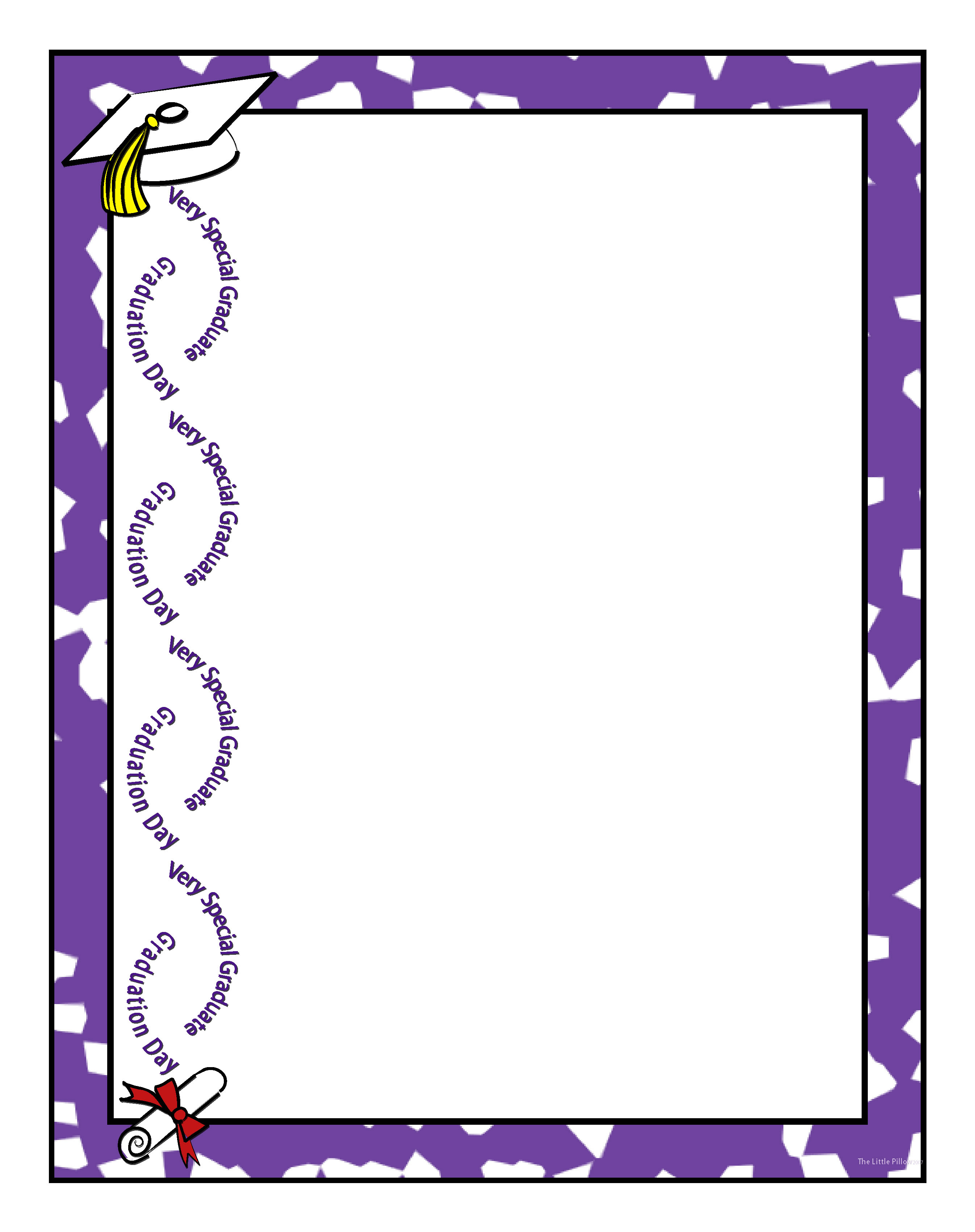 2692x3400 Free Graduation Party Borders And Clipart