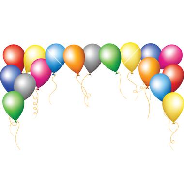 380x400 Balloon Border Clip Art