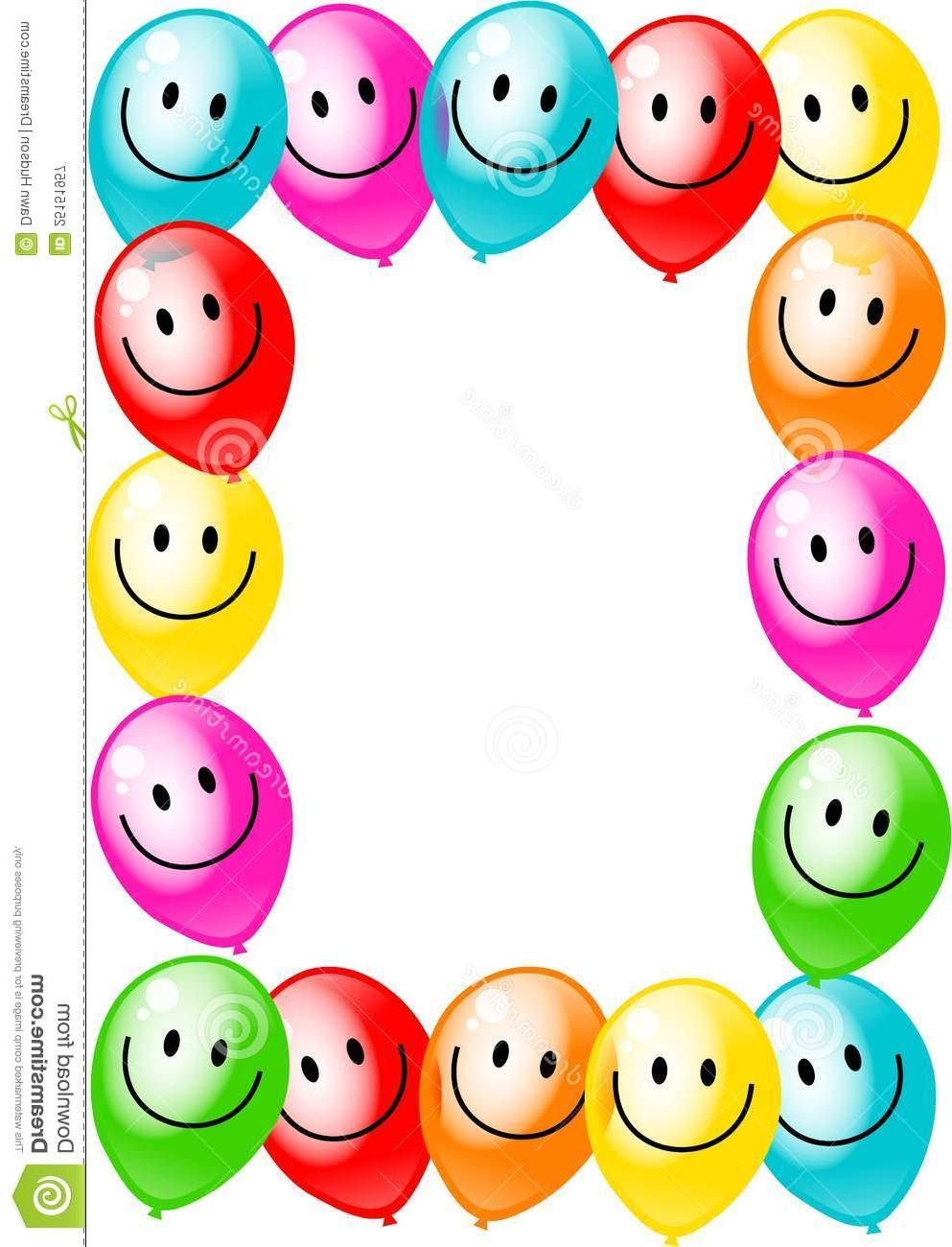 993x1300 Best Free Birthday Clip Art Borders Party Balloon Border Pictures