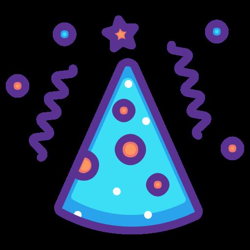 512x512 Cap, Birthday, Party, Cone, New Year, Merry, Celebrate Icon