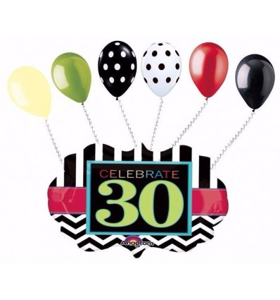 398x425 Celebrate 30th Birthday Balloons Party Supplies In United State