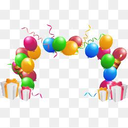 260x261 Birthday Party Celebration Flag, Cartoon, Birthday Party