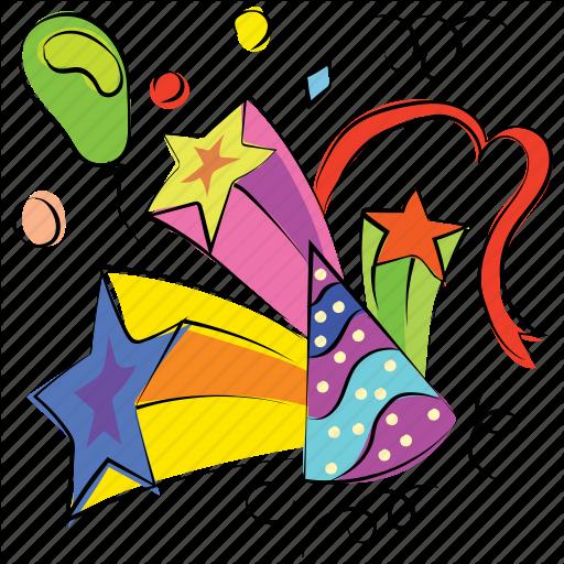 512x512 Birthday Cap, Birthday Cone, Celebration, Hat, Party Icon Icon
