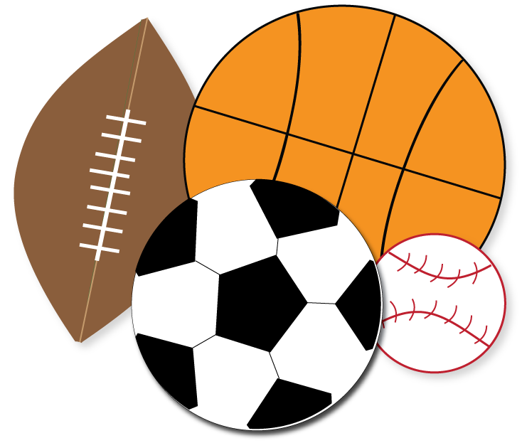 734x623 Free Sports Clipart For Parties, Crafts, School Projects, Websites