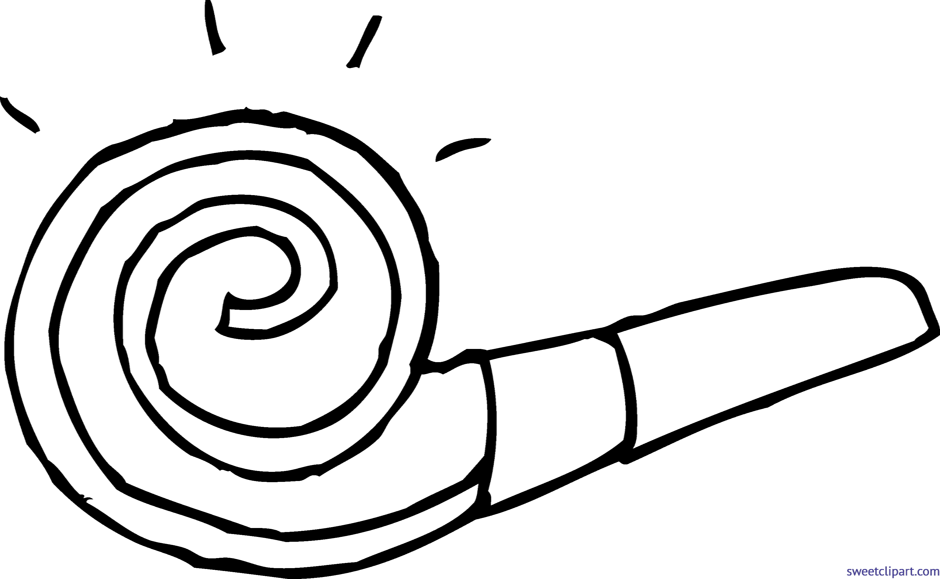 3280x2021 Party Blower Coloring Page Clip Art