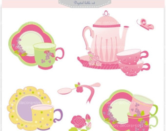 340x270 Tea Party Clip Art Etsy