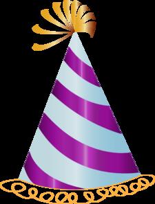 225x297 Purple Party Hat Clip Art