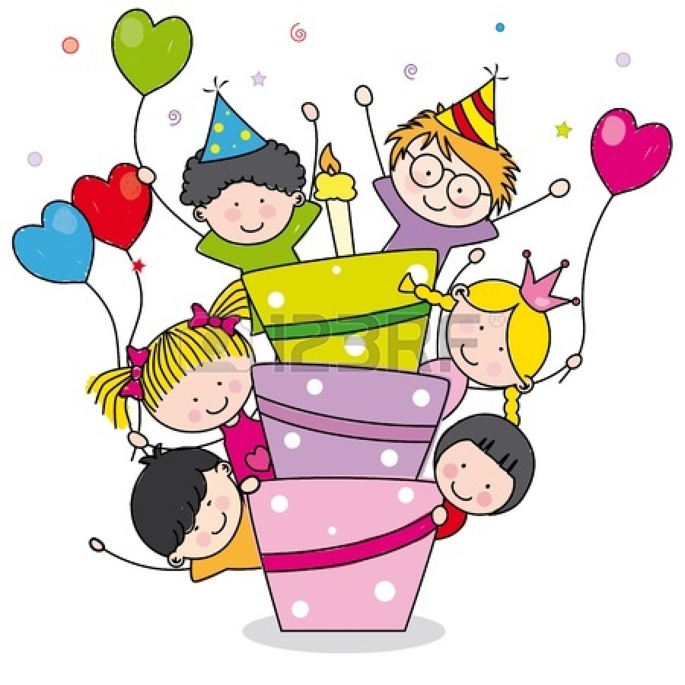 1350x1350 Birthday Party Clipart