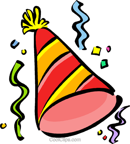 433x480 Party Hat Royalty Free Vector Clip Art Illustration Vc016097