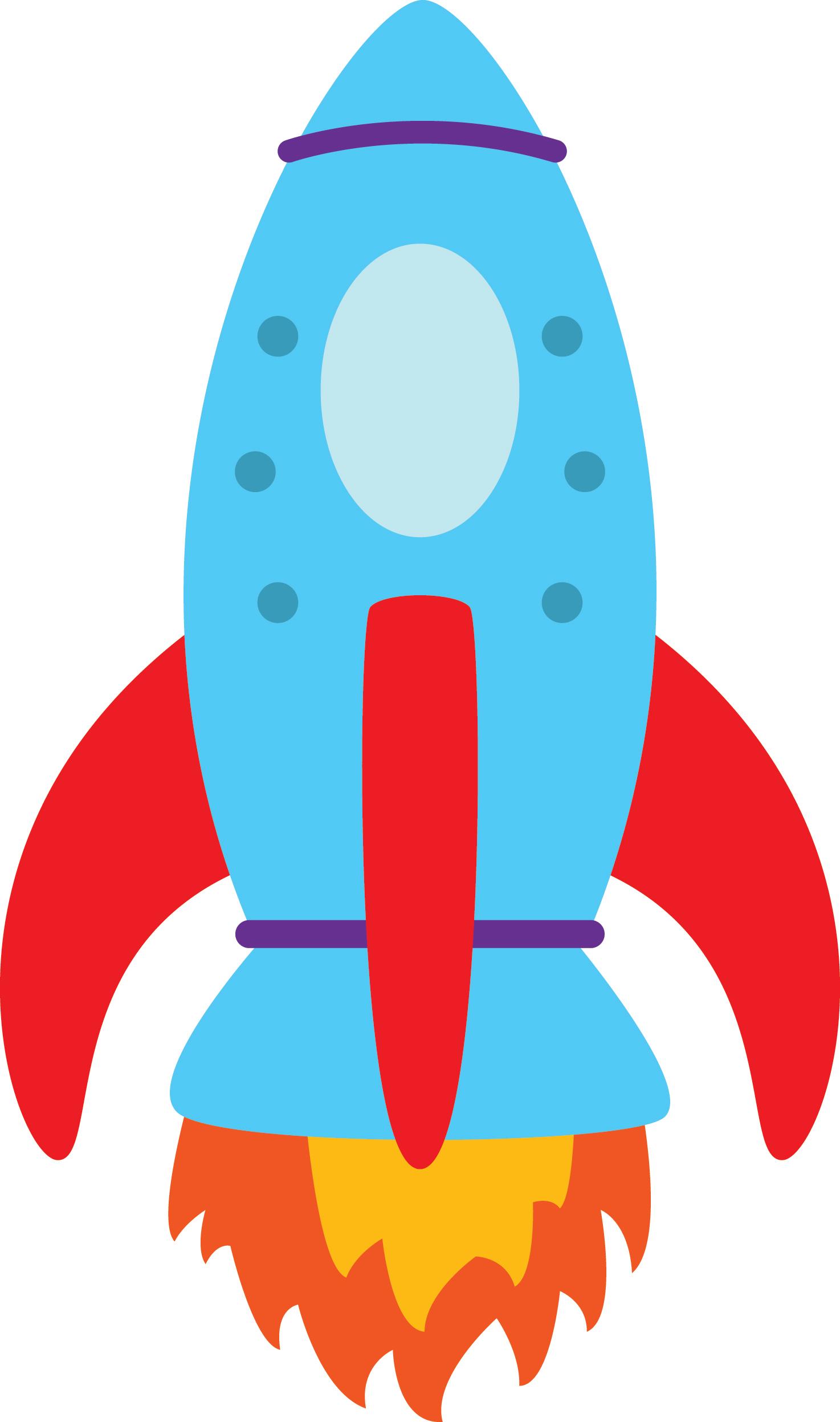1474x2494 Een Fullcolour Muursticker Van Een Mooie Raket. Combineer Met De