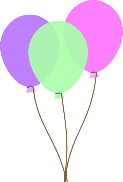 402x596 Party Balloons Clipart