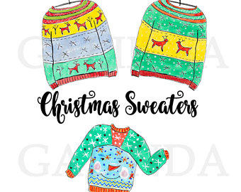 340x270 Sweater Clipart Etsy