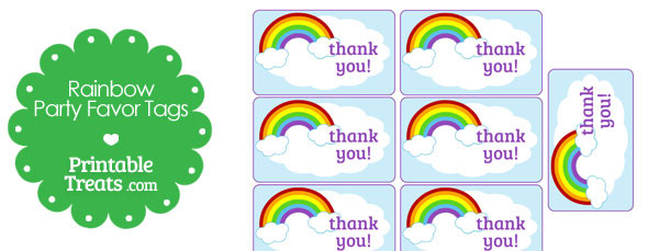 610x229 Printable Rainbow Party Favor Tags Printable