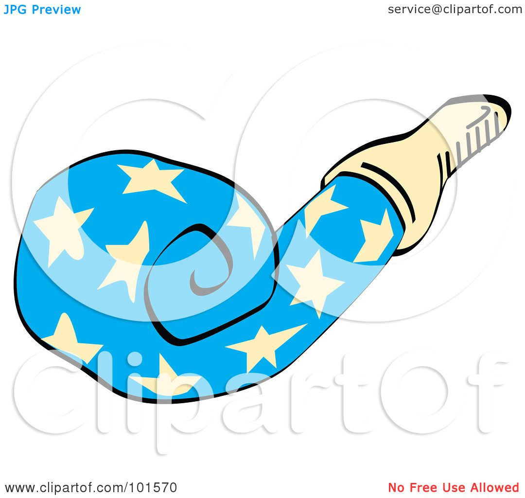 1080x1024 Royalty Free (Rf) Clipart Illustration Of A Blue Party Favor Noise