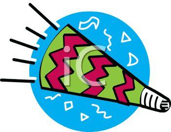 350x270 Cartoon Of A Party Favor Horn