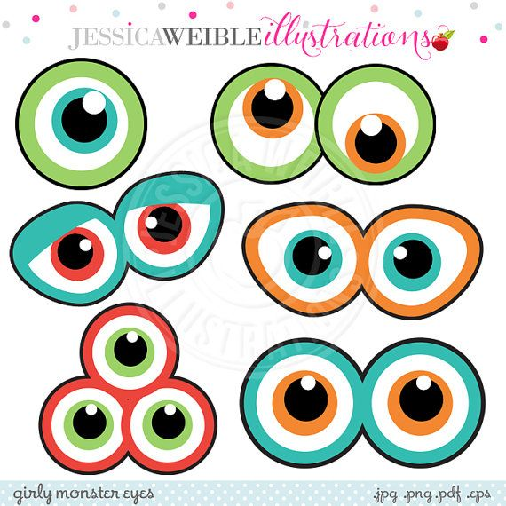 570x570 Monster Eyes Cute Printable Birthday Party Favors